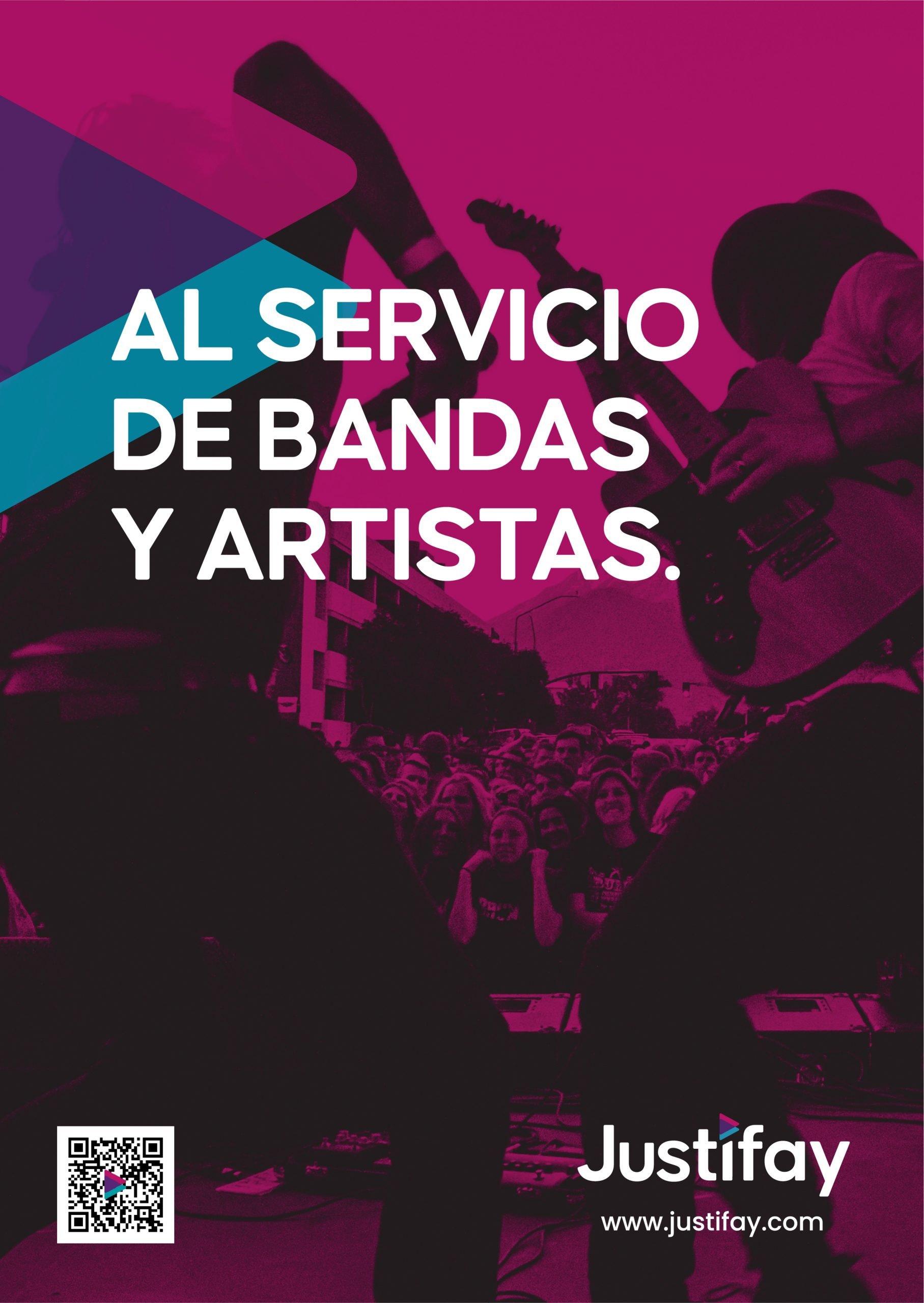 JUSTIFAY cartel A4 - Bandas y Artistas